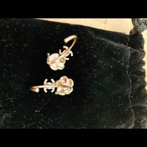 Authentic Channel gold earrings.